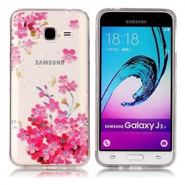 Plum Blossom Bloom Super Clear Soft TPU Back Cover for Samsung Galaxy J3 2016 J320