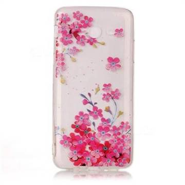 Plum Blossom Bloom Super Clear Soft TPU Back Cover for Samsung Galaxy J3 2017 Emerge
