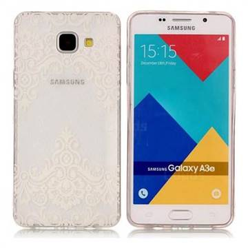 Diagonal Lace Super Clear Soft Tpu Back Cover For Samsung Galaxy A3