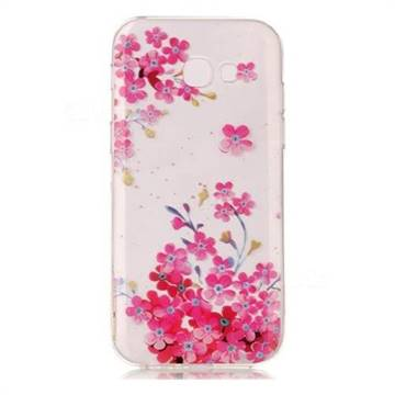 Plum Blossom Bloom Super Clear Soft TPU Back Cover for Samsung Galaxy A3 2017 A320