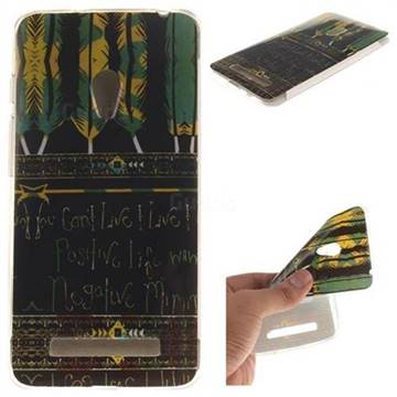 Tribal Feathers IMD Soft TPU Back Cover For Asus ZenFone 5 A500CG A501CG