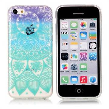 Mandala Wind Chimes Super Clear Soft TPU Back Cover for iPhone 5c