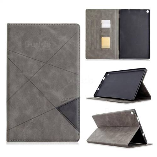 Binfen Color Prismatic Slim Magnetic Sucking Stitching Wallet Flip Cover for Amazon Fire HD 10(2015) - Gray
