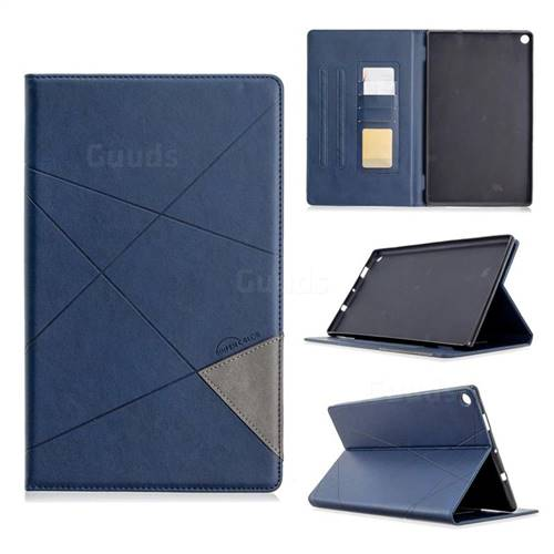 Binfen Color Prismatic Slim Magnetic Sucking Stitching Wallet Flip Cover for Amazon Fire HD 10(2015) - Blue
