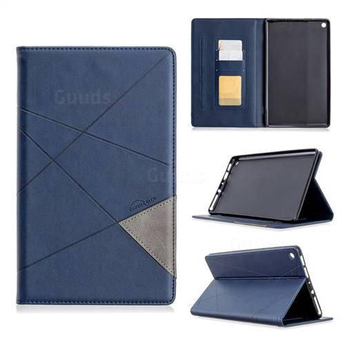 Binfen Color Prismatic Slim Magnetic Sucking Stitching Wallet Flip Cover for Amazon Fire HD 8 (2018) - Blue