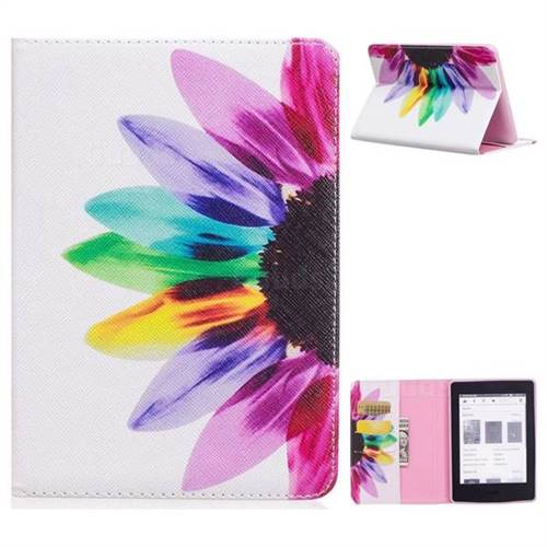 31e3a336398 Seven-color Flowers Folio Stand Leather Wallet Case for Amazon Kindle  Paperwhite 1 2 3