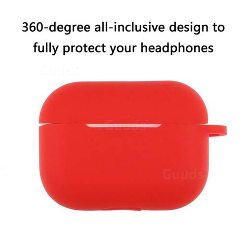 Dust Proof Candy Soft Silicone Hot Red For Apple Airpods Pro