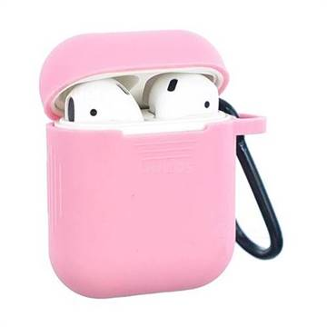 more photos f856f 3bf13 Non-slip Soft Silicone Case for Apple AirPods - Pink