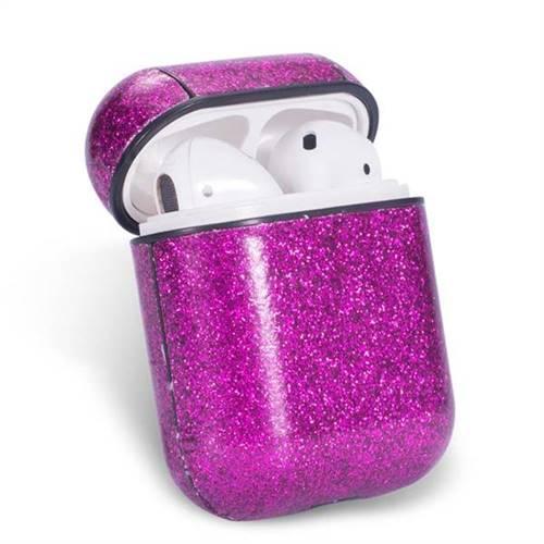 quality design f71dd ca7c3 Shine Powder PU Leather Case for Apple AirPods - Purple