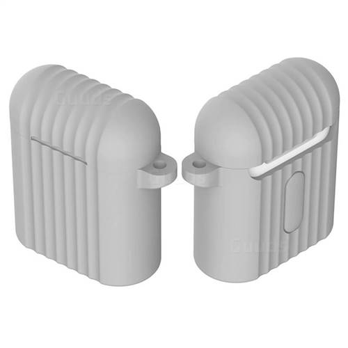 Shockproof Anti-fall Antifouling Silicone Protective Case for Apple AirPods - Gray