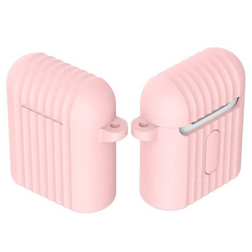 Shockproof Anti-fall Antifouling Silicone Protective Case for Apple AirPods - Pink