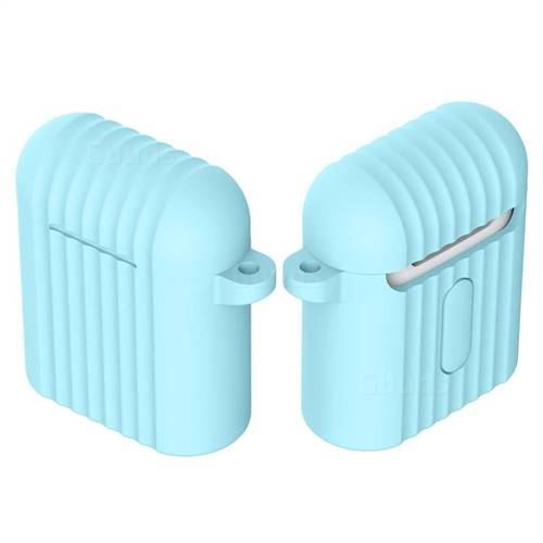 Shockproof Anti-fall Antifouling Silicone Protective Case for Apple AirPods - Baby Blue
