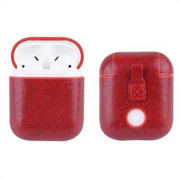 329de89dbd7 Litchi Texture Slim Leather Case for Apple AirPods - Red - AirPods ...