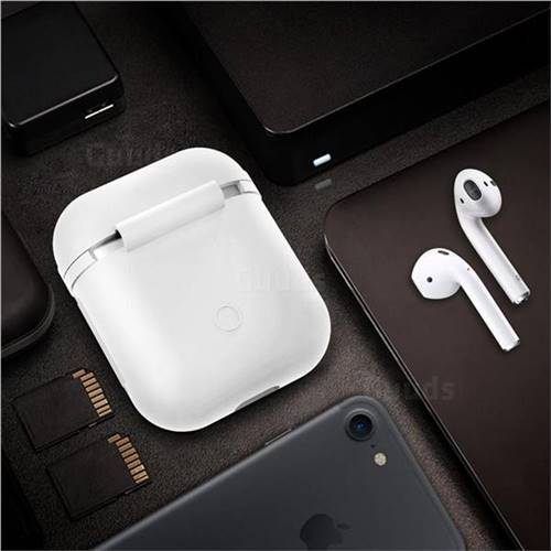 Matte Anti-fall Silicone Protective Case for Apple AirPods - White
