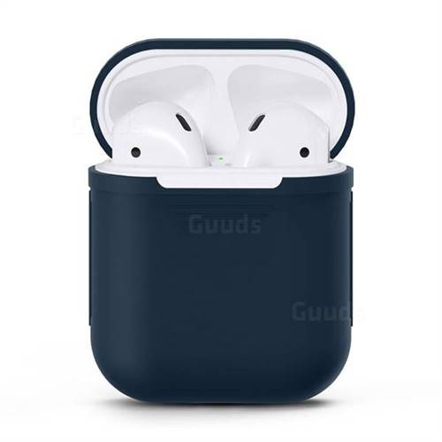 Matte Anti-fall Silicone Protective Case for Apple AirPods - Blue