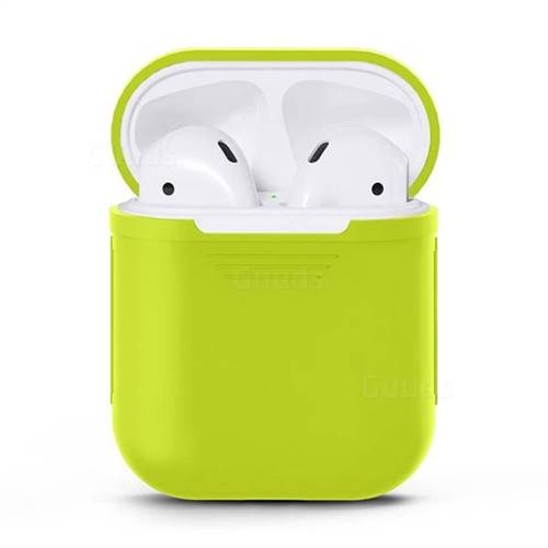 Matte Anti-fall Silicone Protective Case for Apple AirPods - Leaf Green