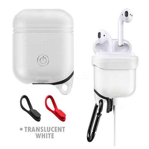 Waterproof Anti-fall Silicone Protective Case for Apple AirPods - Translucent White