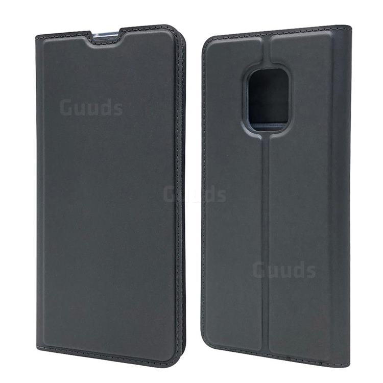 Ultra Slim Card Magnetic Automatic Suction Leather Wallet Case for FUJITSU Docomo Arrows 5G F-51A - Star Grey