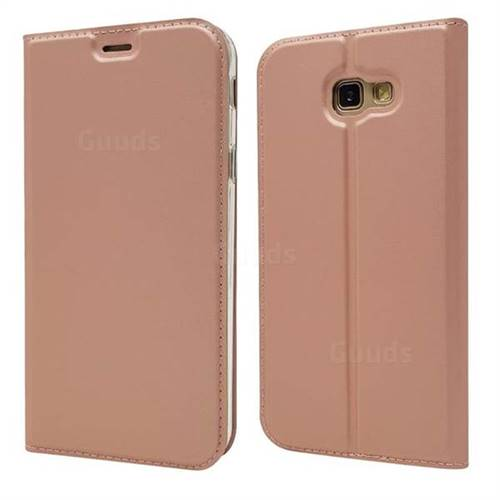 Ultra Slim Card Magnetic Automatic Suction Leather Wallet Case for Docomo Galaxy Feel SC-04J - Rose Gold