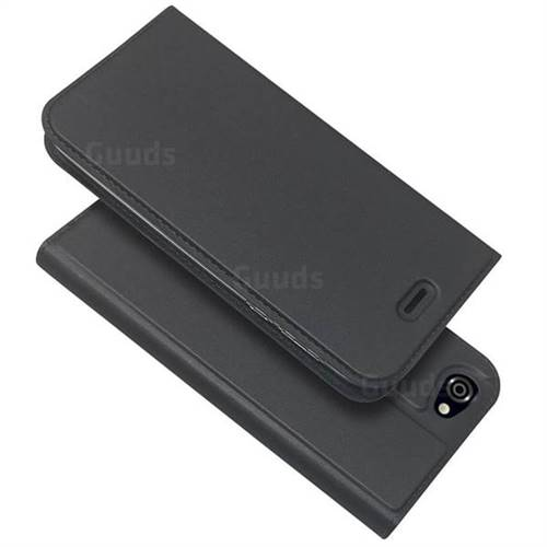 Ultra Slim Card Magnetic Automatic Suction Leather Wallet Case for Sharp AQUOS R SH-03J / SHV39 - Star Grey