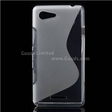 promo code 67a26 7cef5 S-Curved TPU Protective Back Cover for Sony Xperia E3 D2203 D2206 -  Transparent