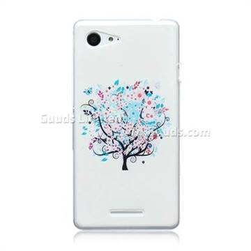 check out fe30d 7096f Colorful Tree Painted Ultra Slim TPU Back Cover for Sony Xperia E3 D2203  D2206 / E3 Dual SIM