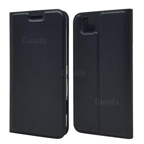 Ultra Slim Card Magnetic Automatic Suction Leather Wallet Case for FUJITSU Arrows U SoftBank - Star Grey
