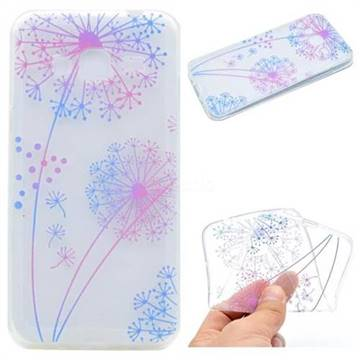 Rainbow Dandelion Super Clear Soft TPU Back Cover for Samsung Galaxy Core Prime G360
