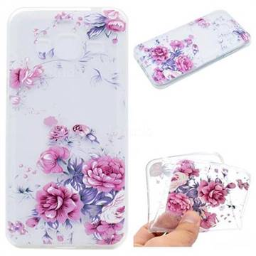 Peony Super Clear Soft TPU Back Cover for Samsung Galaxy Core Prime G360