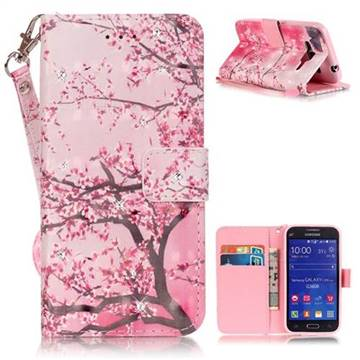 finest selection ce1c0 5caae Cherry Tree 3D Painted Leather Wallet Case for Samsung Galaxy Core Prime  G360