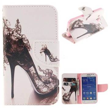 High Heels PU Leather Wallet Case for Samsung Galaxy Core Prime G360