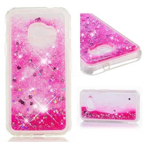 Dynamic Liquid Glitter Quicksand Sequins TPU Phone Case for Samsung Galaxy Xcover 4 G390F - Rose