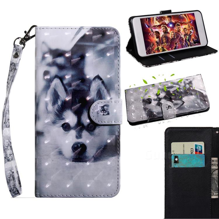Husky Dog 3D Painted Leather Wallet Case for Samsung Galaxy G390S