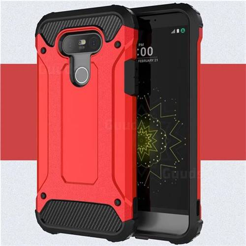 King Kong Armor Premium Shockproof Dual Layer Rugged Hard Cover for LG G5 - Big Red