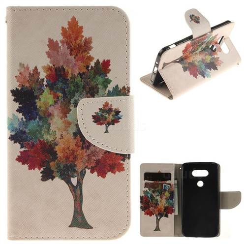 Colored Tree PU Leather Wallet Case for LG G5