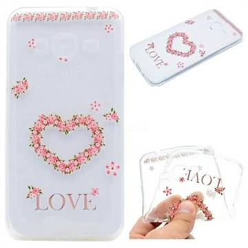 Heart Garland Super Clear Soft TPU Back Cover for Samsung Galaxy Grand Prime G530