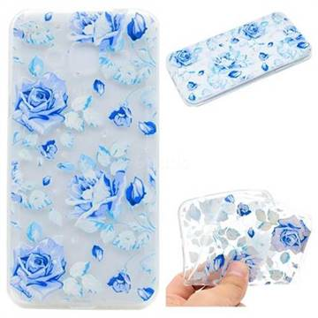 Ice Rose Super Clear Soft TPU Back Cover for Samsung Galaxy Grand Prime G530