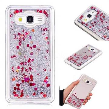 Glitter Sand Mirror Quicksand Dynamic Liquid Star TPU Case for Samsung Galaxy Grand Prime G530 - Red