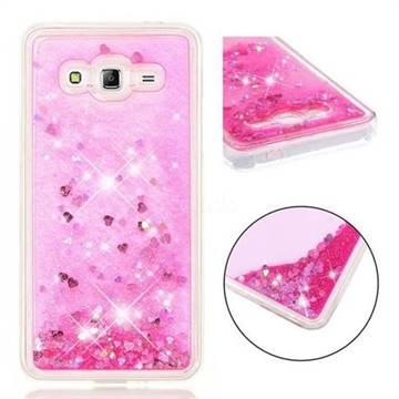 Dynamic Liquid Glitter Quicksand Sequins TPU Phone Case for Samsung Galaxy Grand Prime G530 - Rose