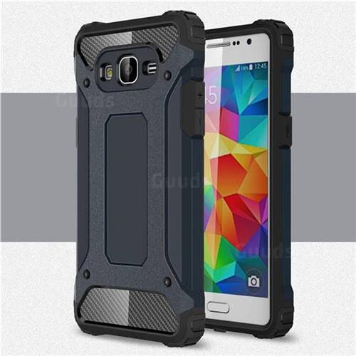 King Kong Armor Premium Shockproof Dual Layer Rugged Hard Cover for Samsung Galaxy Grand Prime G530 - Navy