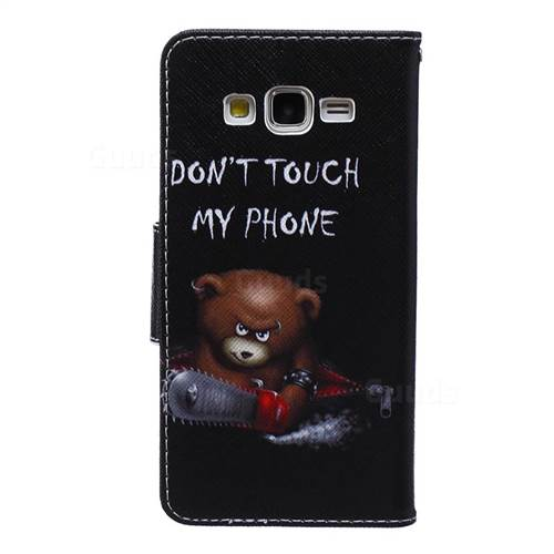 pretty nice dd451 331cc Chainsaw Bear Leather Wallet Case for Samsung Galaxy Grand Prime G530 G530H