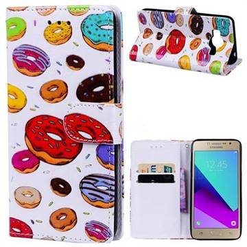 Doughnut 3D Relief Oil PU Leather Wallet Case for Samsung Galaxy Grand Prime G530