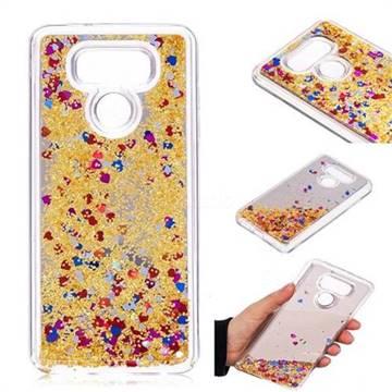 Glitter Sand Mirror Quicksand Dynamic Liquid Star TPU Case for LG G6 - Yellow