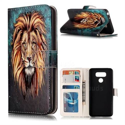 Ice Lion 3D Relief Oil PU Leather Wallet Case for LG G6