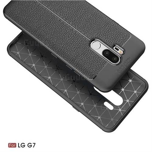 on sale 3dcd9 3d355 Luxury Auto Focus Litchi Texture Silicone TPU Back Cover for LG G7 ThinQ -  Black