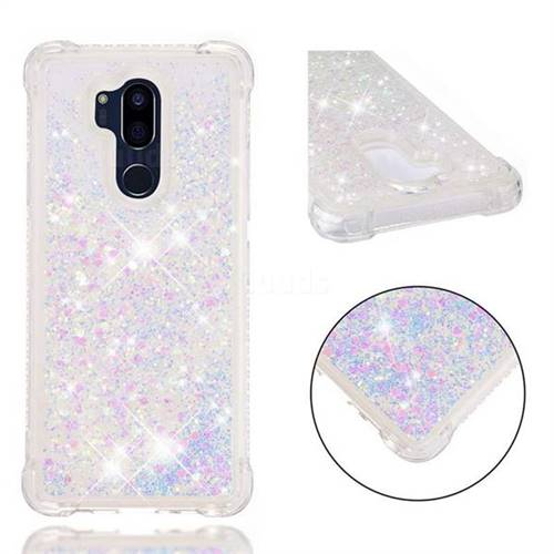 Dynamic Liquid Glitter Sand Quicksand Star TPU Case for LG G7 ThinQ - Pink