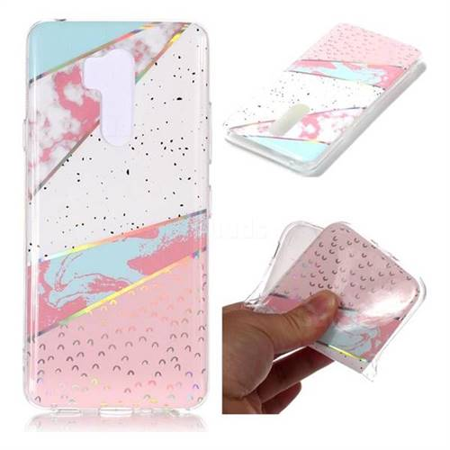 Matching Color Marble Pattern Bright Color Laser Soft TPU Case for LG G7 ThinQ