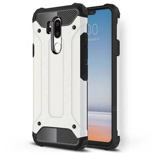 King Kong Armor Premium Shockproof Dual Layer Rugged Hard Cover for LG G7 ThinQ - White