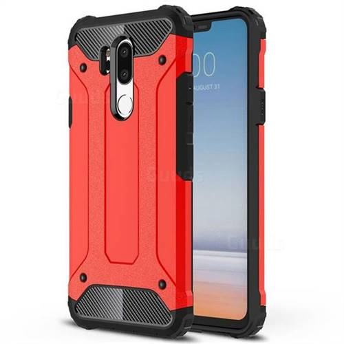 King Kong Armor Premium Shockproof Dual Layer Rugged Hard Cover for LG G7 ThinQ - Big Red