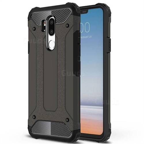 King Kong Armor Premium Shockproof Dual Layer Rugged Hard Cover for LG G7 ThinQ - Bronze